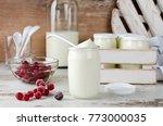 fresh natural homemade organic... | Shutterstock . vector #773000035