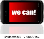 we can text. business concept . ... | Shutterstock . vector #773003452