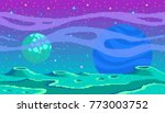 pixel art game location. cosmic ... | Shutterstock .eps vector #773003752