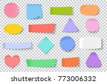 vector stickers and post note... | Shutterstock .eps vector #773006332