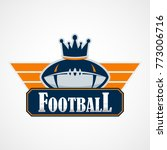 american football logo template.... | Shutterstock .eps vector #773006716
