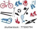 sport icons collection ... | Shutterstock .eps vector #77300794