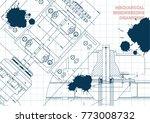 engineering backgrounds.... | Shutterstock .eps vector #773008732