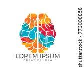 creative brain logo design.... | Shutterstock .eps vector #773008858