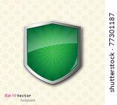 shield on vintage background | Shutterstock .eps vector #77301187