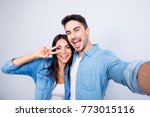 sweet  caucasian  cheerful... | Shutterstock . vector #773015116