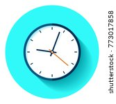 clock icon in flat style  timer ... | Shutterstock .eps vector #773017858
