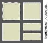blank postage stamps set on... | Shutterstock .eps vector #773021206