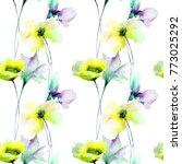 floral seamless pattern ... | Shutterstock . vector #773025292