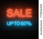 Glowing Neon Big Sale Sign On ...