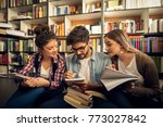 concept of education  library ... | Shutterstock . vector #773027842