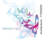 vector colorful background with ... | Shutterstock .eps vector #77303050