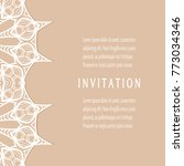 invitation or card templates... | Shutterstock .eps vector #773034346