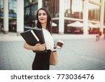 businesswoman going to work | Shutterstock . vector #773036476