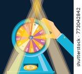 fortune wheel design | Shutterstock .eps vector #773042842