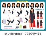 set of super businesswoman... | Shutterstock .eps vector #773049496