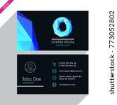 vector business card template...   Shutterstock .eps vector #773052802