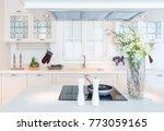 modern  bright  clean kitchen... | Shutterstock . vector #773059165