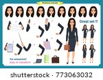 set of businesswoman character... | Shutterstock .eps vector #773063032