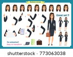 set of businesswoman character... | Shutterstock .eps vector #773063038