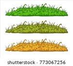 vector illustration of grass... | Shutterstock .eps vector #773067256