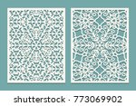 die and laser cut scenical... | Shutterstock .eps vector #773069902