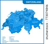 the detailed map of the... | Shutterstock . vector #773074846