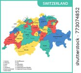 the detailed map of the... | Shutterstock . vector #773074852