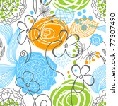 nature seamless pattern | Shutterstock .eps vector #77307490
