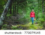 casual woman walking with...   Shutterstock . vector #773079145
