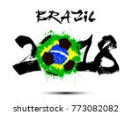 abstract number 2018 and soccer ... | Shutterstock .eps vector #773082082