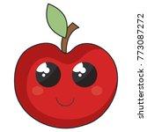 apple fresh fruit kawaii...   Shutterstock .eps vector #773087272