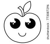 apple fresh fruit kawaii...   Shutterstock .eps vector #773087296