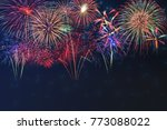 beautiful colorful fireworks... | Shutterstock . vector #773088022