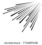 set of isolated speed lines.... | Shutterstock .eps vector #773089438