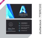 vector business card design...   Shutterstock .eps vector #773092102