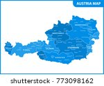 the detailed map of the austria ... | Shutterstock . vector #773098162