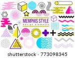 abstract vector design elements ... | Shutterstock .eps vector #773098345