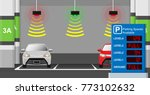 parking lots available space... | Shutterstock .eps vector #773102632