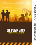 oil rig industry silhouettes ... | Shutterstock .eps vector #773110462