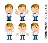 cute set   set of man character  | Shutterstock .eps vector #773110516