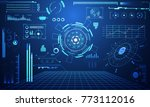 Stock vector abstract technology ui futuristic concept hud interface hologram elements of digital data chart 773112016