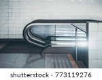 side view of modern glass and... | Shutterstock . vector #773119276