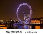 the london eye overlooking the...