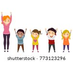 illustration of stickman kids... | Shutterstock .eps vector #773123296