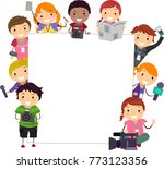 illustration of stickman kids... | Shutterstock .eps vector #773123356