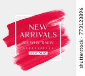 new arrivals sale text over art ... | Shutterstock .eps vector #773123896