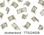 finance concept. money rain.... | Shutterstock . vector #773124028