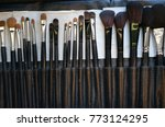 professional cosmetic brush set ... | Shutterstock . vector #773124295