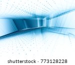 abstract blue and white... | Shutterstock . vector #773128228